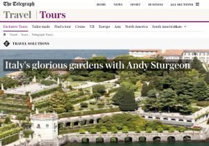 Italy's glorious gardens with Andy Sturgeon